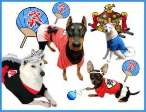 犬の祭り はつぴ
